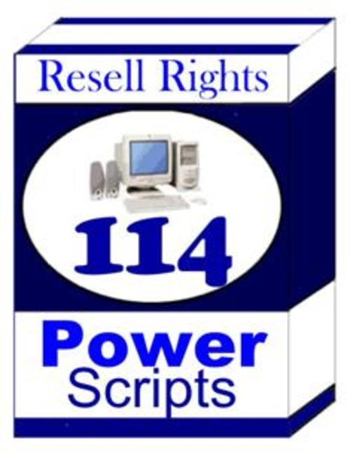 Pay for 100 Power Scripts with Master Resell Rights