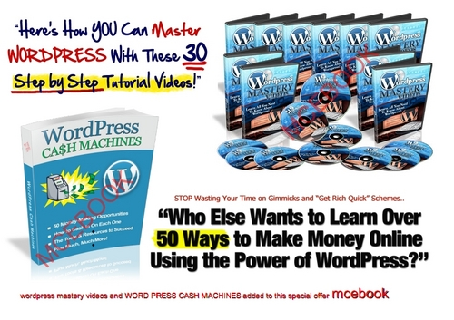 Pay for WORDPRESS CASH MACHINES and as a Bonus WORDPRESS MASTERY ...