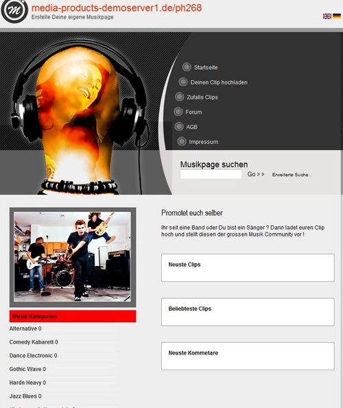 Pay for Band und Musik Promotion System