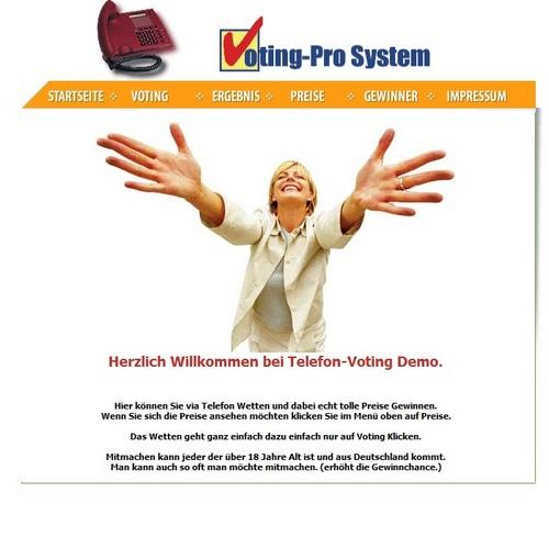 Pay for Telefon Voting Portal