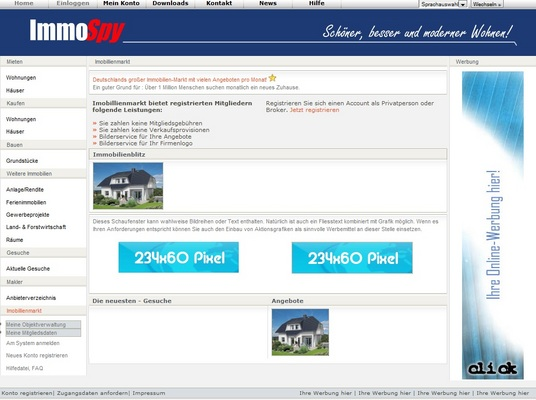 Pay for ImmoSpy - Online - Immobilienmarkt