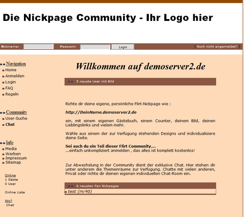 Pay for Nickpage Community System