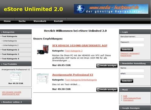 Pay for eStore Unlimited 2.0 - Der 5-Sterne-Shop