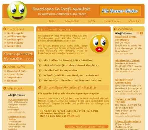 Pay for Smilie Emoticon Shop