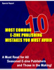 Thumbnail 10 MOST COMMON E-ZINE PUBLISHING MISTAKES  - PLR !
