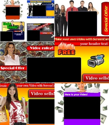 Pay for 10 GREAT VIDEO SQUEEZE PAGES -  UNRESTRICTED PLR!!!