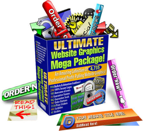 Pay for Ultimate Website Graphics Pack -4735 Professional Graphic