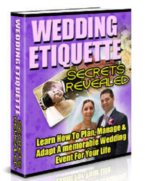 Pay for Wedding Etiquette Secrets