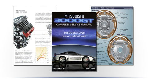Pay for MITSUBISHI 3000GT SL VR-4 SERVICE REPAIR MANUAL UPDATED
