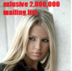 Thumbnail 2,000,000 mailing list exlusive