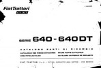 Thumbnail Fiat 640-640DT Service Parts Catalog Tractor Manual PDF