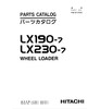 Thumbnail Hitachi LX190-7 LX230-7 Parts Manual for Wheel Loader