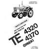 Thumbnail Iseki TE4320 TE4370 Parts Manual Catalog