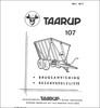 Thumbnail Taarup 107 Spare Parts Manual for Loader Wagon