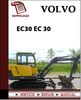 Thumbnail Volvo Excavator EC30 Parts Catalog Manual