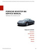 Thumbnail Porsche 986 Boxster Service Repair Manual