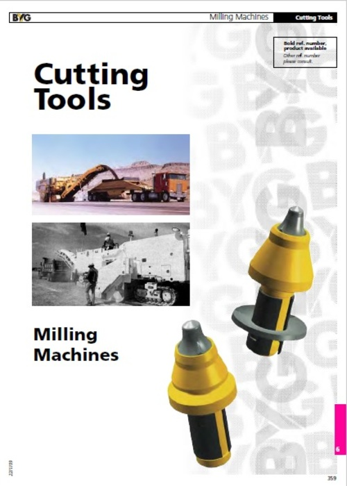 Pay for Cutting Tools for Milling Machines Service Parts Catalogue