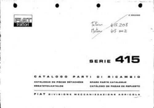 fiat 415 service parts catalog tractor manual pdf download manual rh tradebit com fiat 415 tractor workshop manual New Holland Tractors
