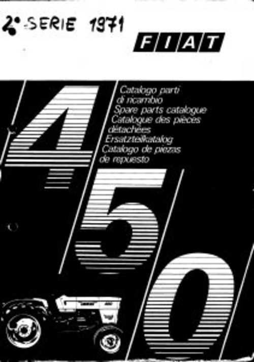 Pay for Fiat 450 Service Parts Catalog Tractor Manual PDF