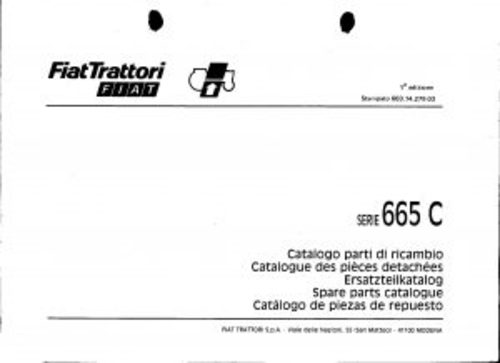 Pay for Fiat 665C Service Parts Catalog Tractor Manual PDF