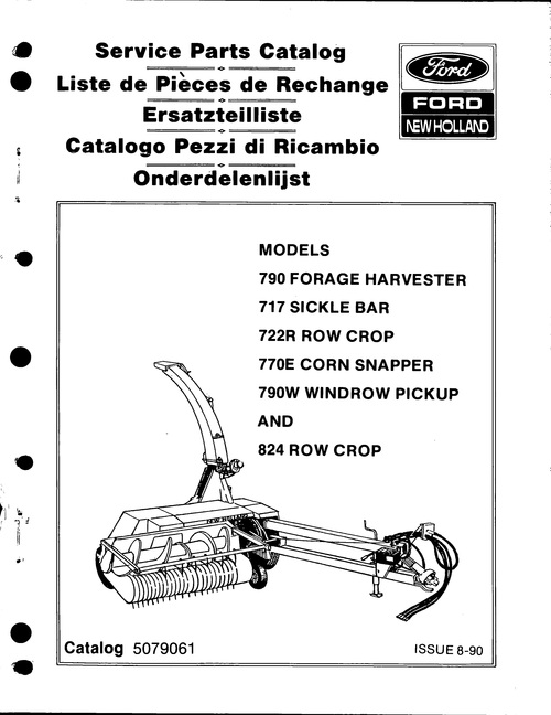 Pay for Ford New Holland 790 Forage Harvester Service Parts Catalog