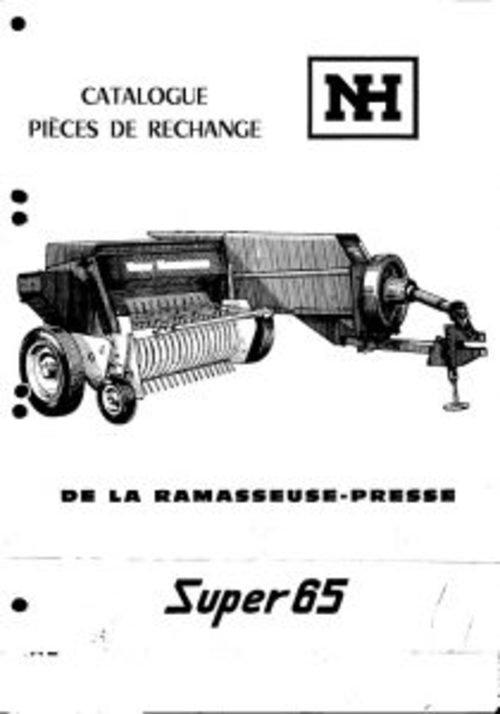 Pay for New Holland Super 65 Baler Service Parts Catalog PDF Tractor