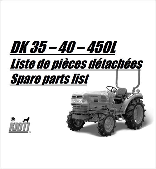 Pay for Kioti DK35 DK40 DK450 Parts Manual Catalog