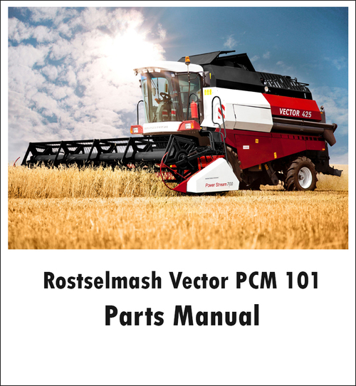 Pay for Rostselmash Vector PCM 101 Parts Manual