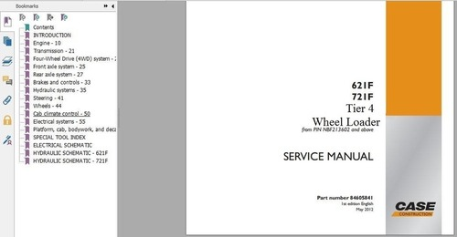 Pay for Case Loader 621F 721F Service Manual Tier 4