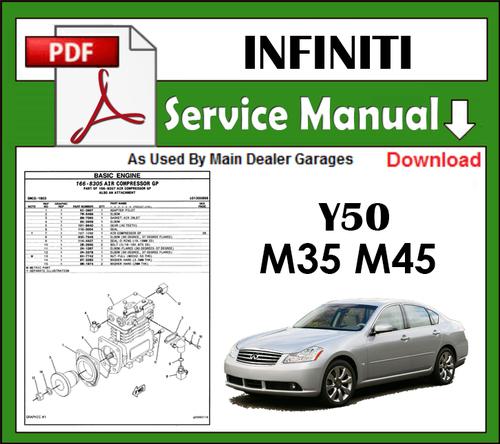 Y50 Infiniti M35 M45 Ebrm Factory Service Manual