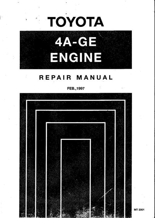 Pay for Toyota AE111 AE101 4AGE 20v Repair & Service Manual