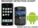 Thumbnail Mobile browser dection script user agent.