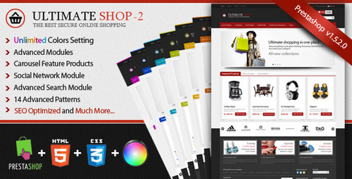 Pay for Ultimateshop Pro2 - Prestashop 1.5 Template