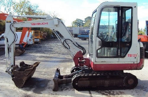 Takeuchi TB125 TB135 TB145 Compact Excavator Service Repair Workshop ...