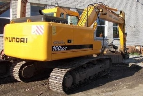 Hyundai R160LC-7 Crawler Excavator Service Repair Workshop Manual DOWNLOAD