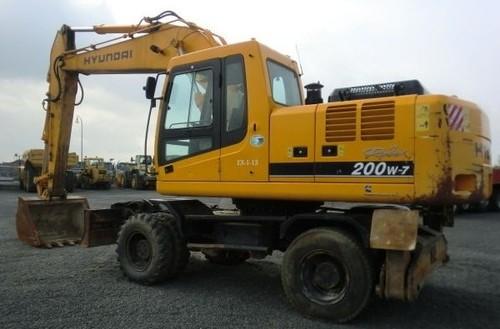 Hyundai R200W-7 Wheel Excavator Service Repair Workshop Manual DOWNLOAD