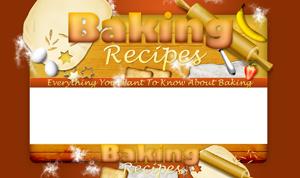 Thumbnail Baking Recipes PSD Minisite HTML Graphics Ready Made Web Template