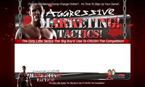 Thumbnail Agressive Marketing PSD Minisite HTML Graphics Ready Made Web Template