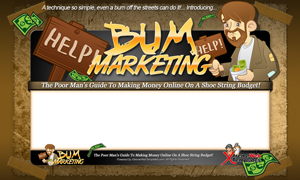 Thumbnail Bum Marketing PSD Minisite HTML Graphics Ready Made Web Template