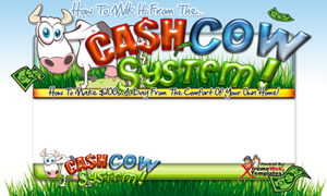 Thumbnail Cash Cow PSD Minisite HTML Graphics Ready Made Web Template