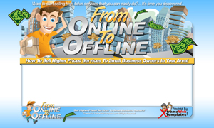 Thumbnail From Online To Offline PSD Minisite HTML Graphics Ready Made Web Template