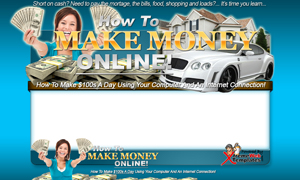 Thumbnail Make Money Online Classic PSD Minisite HTML Graphics Ready Made Web Template