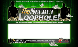 Thumbnail The Secret Loophole PSD Minisite HTML Graphics Ready Made Web Template