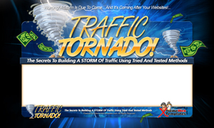 Thumbnail Traffic Tornado PSD Minisite HTML Graphics Ready Made Web Template