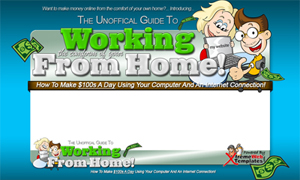 Thumbnail Work From Home PSD Minisite HTML Graphics Ready Made Web Template