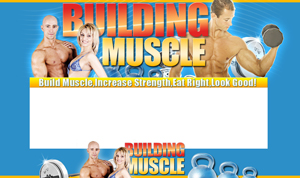 Thumbnail Building Muscle PSD Minisite HTML Graphics Ready Made Web Template