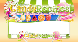 Thumbnail Candy Recipes PSD Minisite HTML Graphics Ready Made Web Template