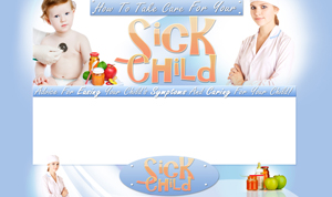 Thumbnail Care For A Sick Child PSD Minisite HTML Graphics Ready Made Web Template
