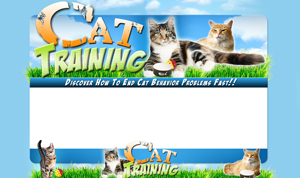 Thumbnail Cat Training PSD Minisite HTML Graphics Ready Made Web Template