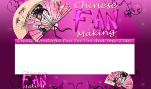 Thumbnail Chinese Fan Making PSD Minisite HTML Graphics Ready Made Web Template
